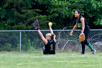 Kelsie Broome #1 comes up with fly ball